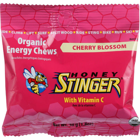 Honey Stinger Energy Chew - Organic - Cherry Blossom - 1.8 Oz - Case Of 12