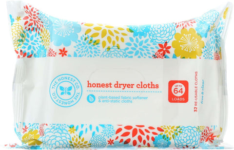 The Honest Company Honest Dryer Cloths - Free And Clear - 32 Count