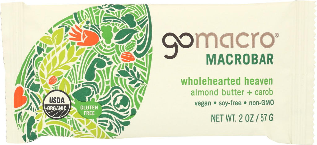 Gomacro Organic Macrobar - Almond Butter And Carob - 2 Oz Bars - Case Of 12
