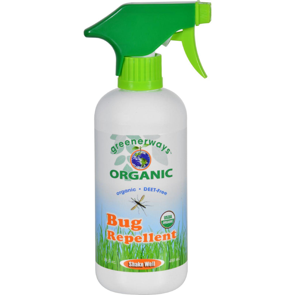 Greenerways Bug Repellent - Organic - Spray - 16 Oz