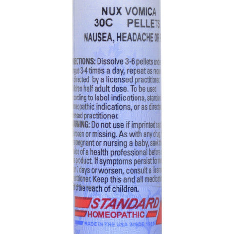 Hylands Homeopathic Nux Vomica 30c - Standard Homeopathic - 160 Pellets - 1 Vial