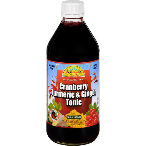 Dynamic Health Tonic - Cranberry Turmeric And Ginger - 16 Oz