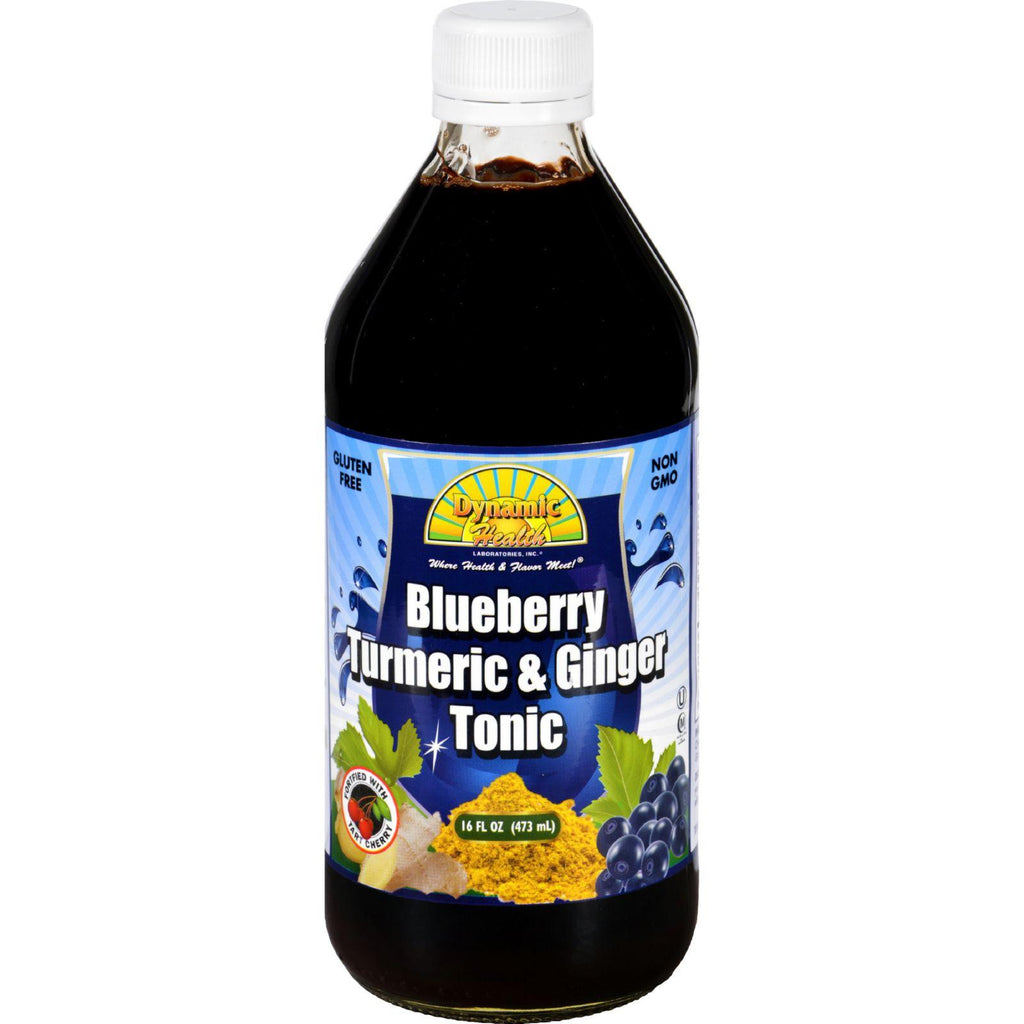 Dynamic Health Tonic - Blueberry Turmeric And Ginger - 16 Oz