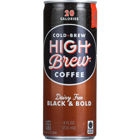 High Brew Coffee Coffee - Ready To Drink - Black And Bold - Dairy Free - 8 Oz - Case Of 12