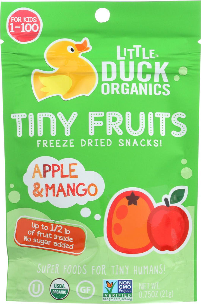 Little Duck Organics Tiny Fruits Freeze Dried Snacks - Apple And Mango - Case Of 6 - 0.75 Oz.