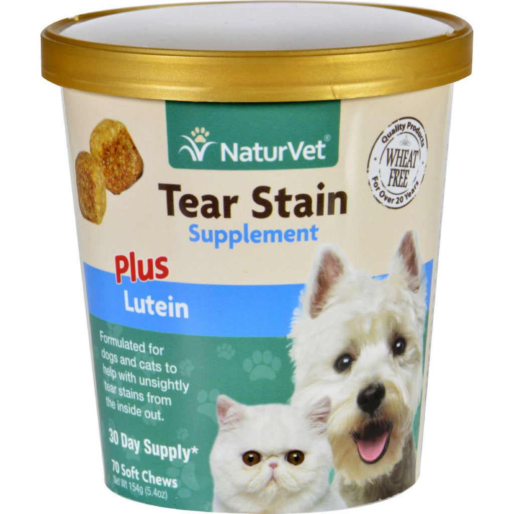 Naturvet Tear Stain - Plus Lutein - Dogs And Cats - Cup - 70 Soft Chews