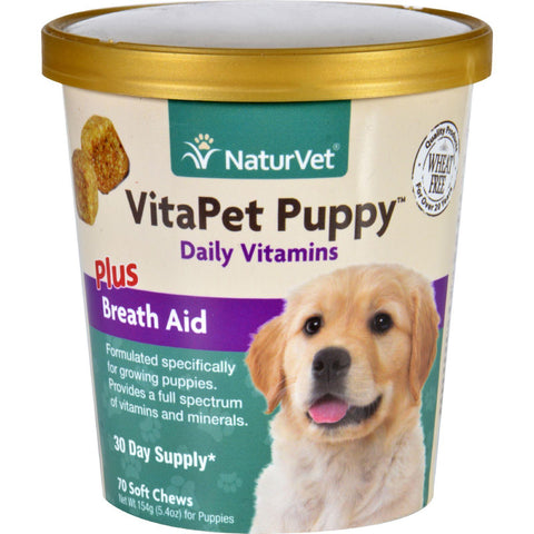 Naturvet Vitapet - Plus Breath Aid - Dog - Puppy - Cup - 70 Soft Chews