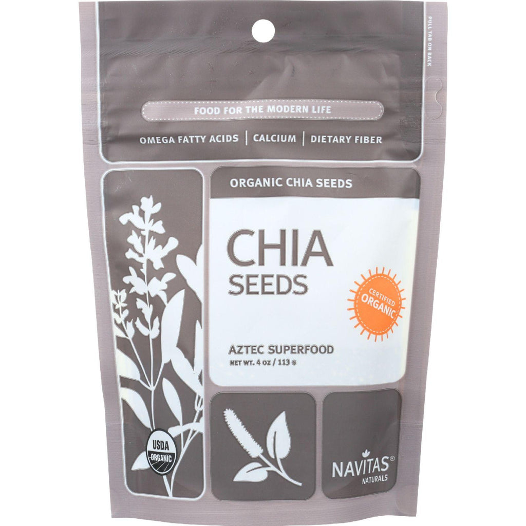 Navitas Naturals Chia Seeds - Organic - Raw - 4 Oz - Case Of 12