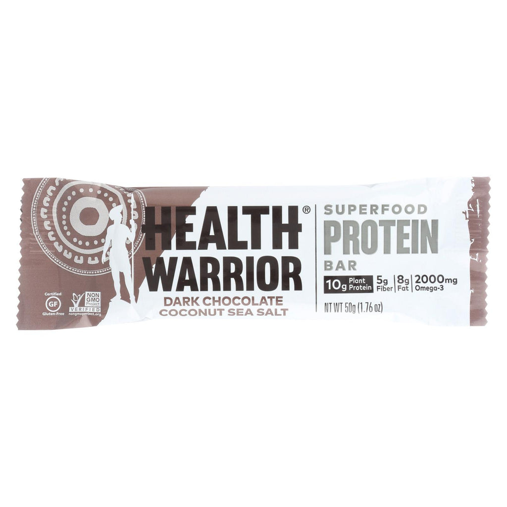 Health Warrior Superfood Protein Bar - Dark Chocolate Coconut - Case Of 12 - 1.76 Oz.