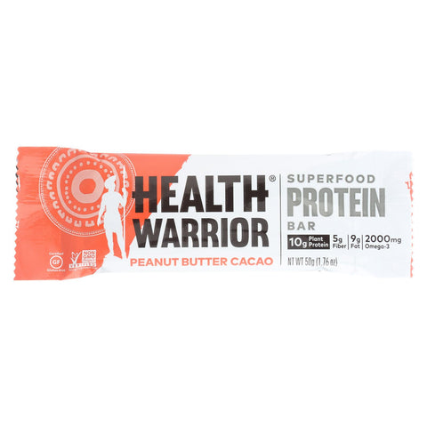 Health Warrior Superfood Protein Bar - Peanut Butter Cacao - Case Of 12 - 1.76 Oz.