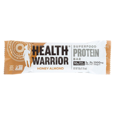 Health Warrior Superfood Protein Bar - Honey Almond - Case Of 12 - 1.76 Oz.