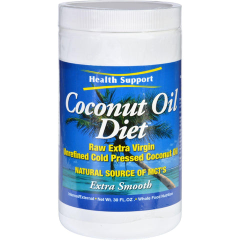Health Support Coconut Oil Diet - Raw - Extra Virgin - 30 Oz