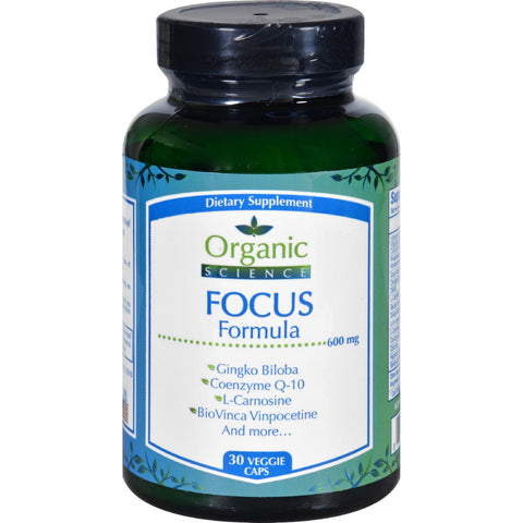 Organic Science Focus Formula - 30 Veggie Caps