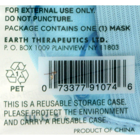 Earth Therapeutics Sleep Mask - Gel Beads - Blue - 1 Count