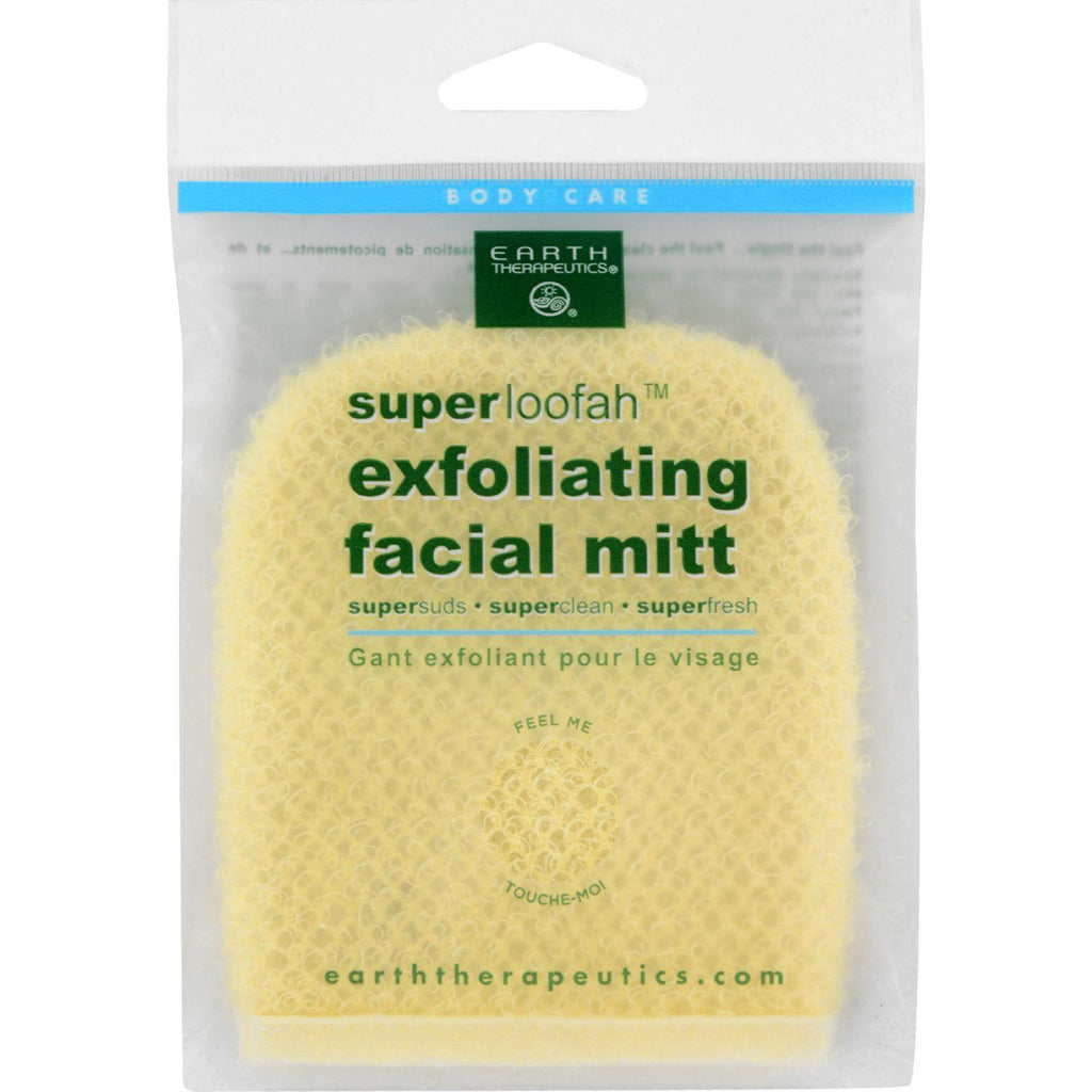 Earth Therapeutics Loofah - Super - Exfoliating - Facial Mitt - 1 Count