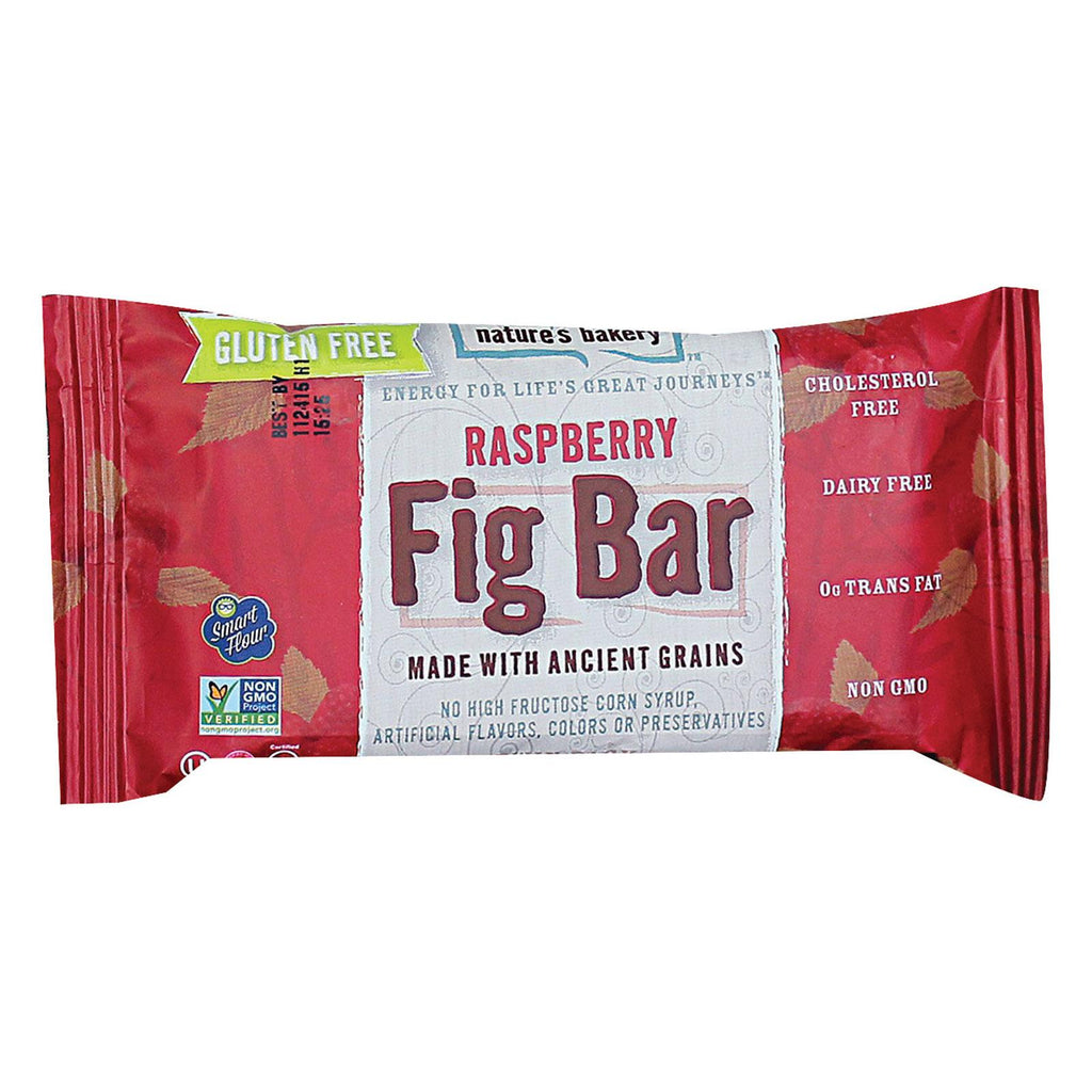 Nature's Bakery Gluten Free Fig Bar - Raspberry - Case Of 12 - 2 Oz.