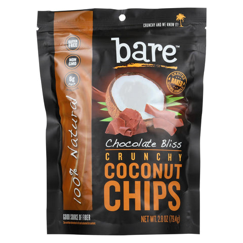 Bare Fruit Bare Fruit Coconut Chips - Choco Bliss - Case Of 12 - 2.8 Oz.