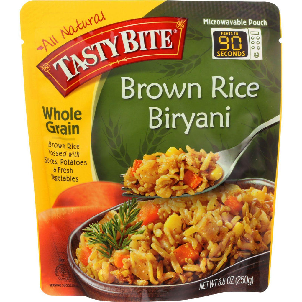 Tasty Bite Rice - Brown Rice Biryani - Whole Grain - 8.8 Oz - Case Of 6