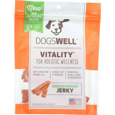 Dogswell Dog Treats - Vitality - Jerky - Chicken Breast - 4 Oz - Case Of 12