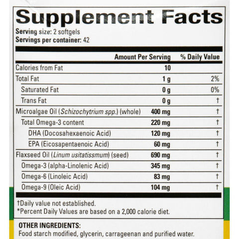 Natures Science Omega-3 - Vegan - With Dha And Epa - 84 Softgels