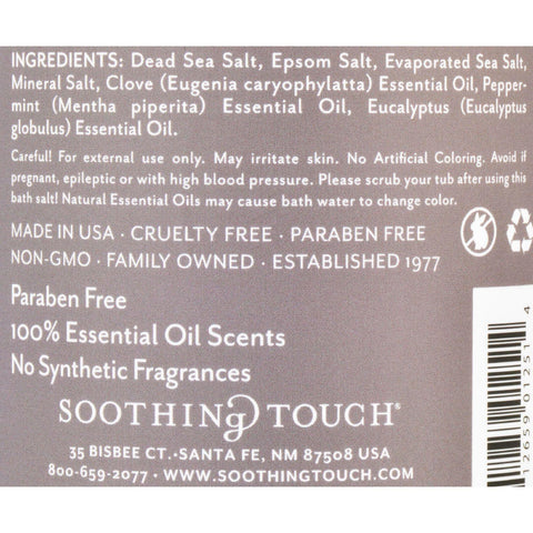 Soothing Touch Bath Salts - Muscle Soak - 32 Oz
