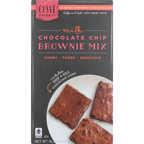 Cisse Brownie Mix - Fair Trade - Milk Chocolate Chip - 16.2 Oz - Case Of 6