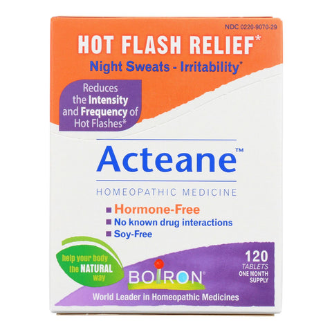 Boiron Acteane Hot Flash Relief Tablets - Case Of 1 - 120 Tablets