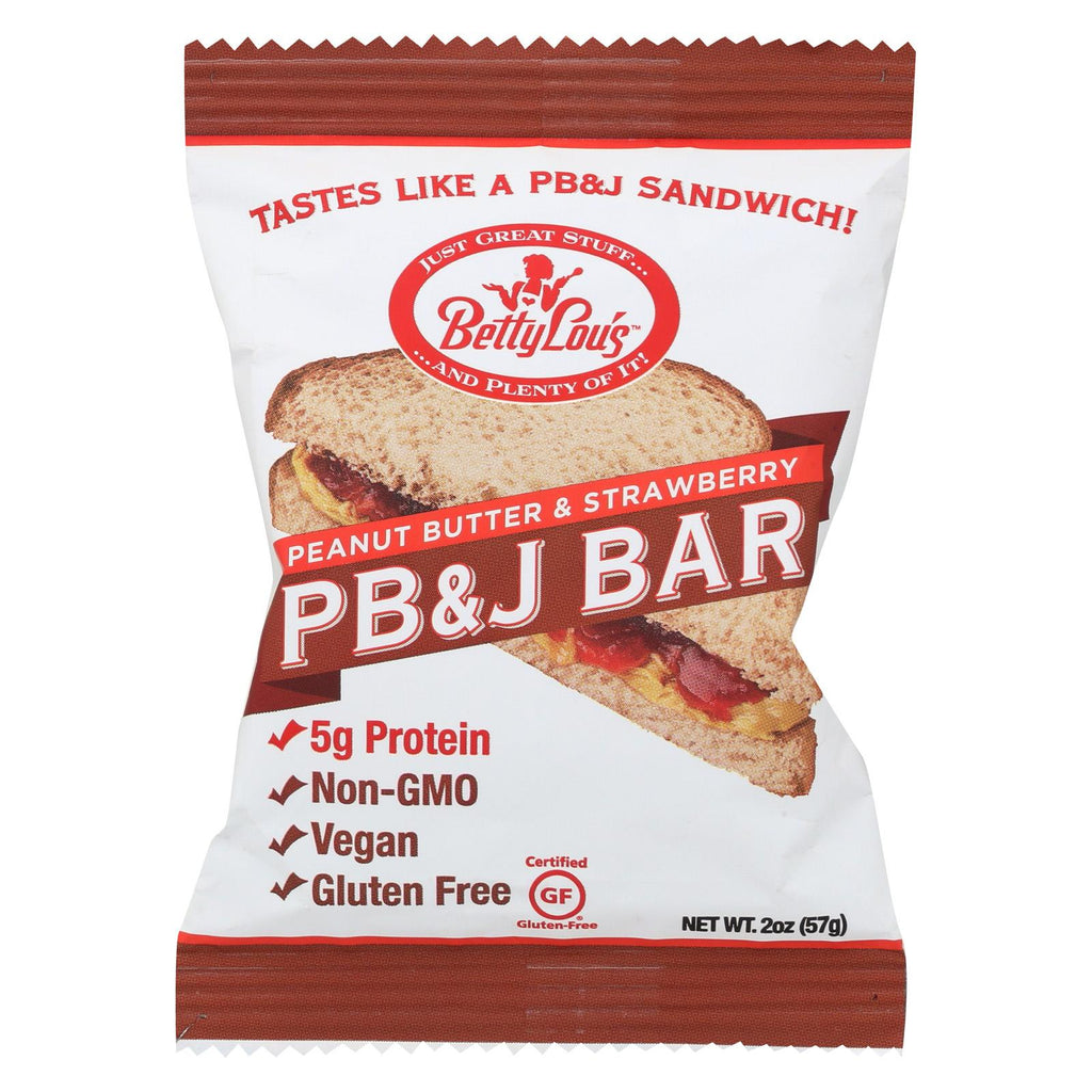 Betty Lou's Sandwich - Peanut Butter And Strawberry - Case Of 12 - 2 Oz.