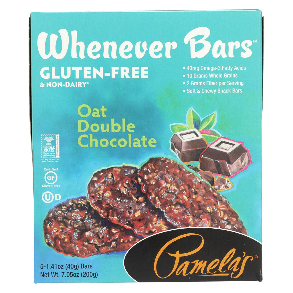 Pamela's Products Whenever Bars Double Chocolate - Oat - Case Of 6 - 7.05 Oz.