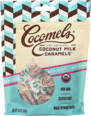 Cocomel Organic Coconut Milk Caramels - Sea Salt - Case Of 6 - 3.5 Oz.