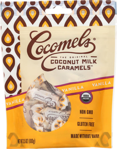 Cocomel Organic Coconut Milk Caramels - Vanilla - Case Of 6 - 3.5 Oz.
