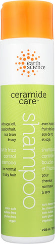 Earth Science Ceramide Care Curl And Frizz Control Shampoo - Case Of 1 - 10 Fl Oz.