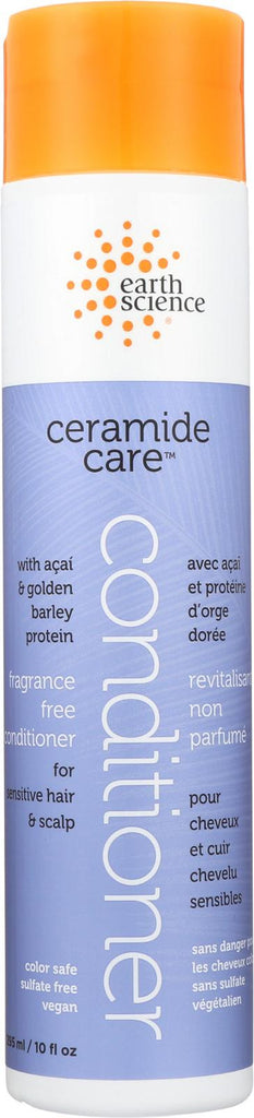 Earth Science Ceramide Care Fragrance Free Conditioner - Case Of 1 - 10 Fl Oz.