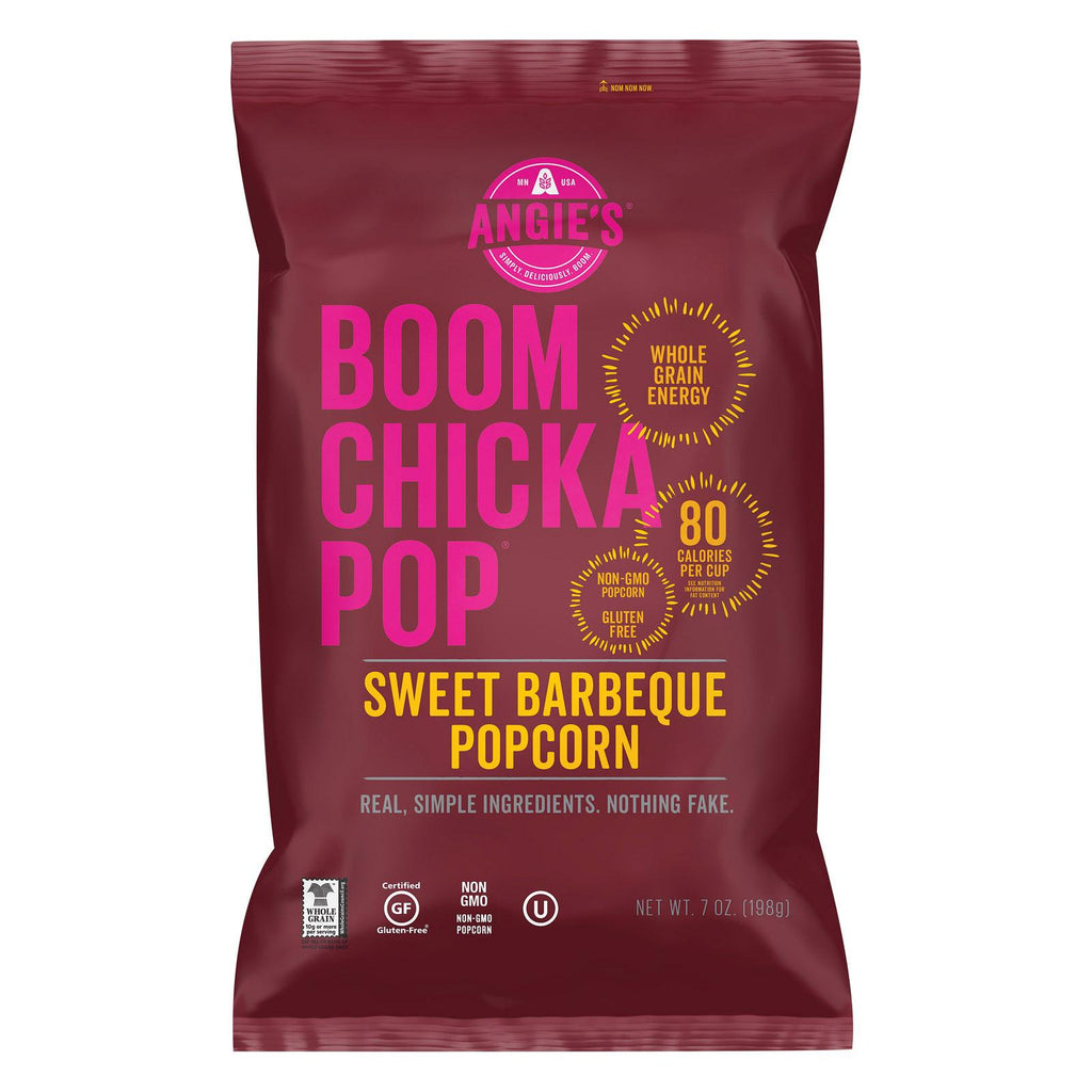 Angie's Kettle Corn Boom Chicka Pop Sweet Barbecue Popcorn - Case Of 12 - 7 Oz.