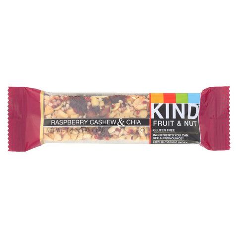 Kind Fruit And Nut Bar - Raspberry Cashew And Chia - Case Of 12 - 1.4 Oz.