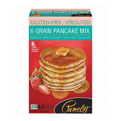 Pamela's Products Grain Pancake Mix - Sprouted - Case Of 6 - 12 Oz.