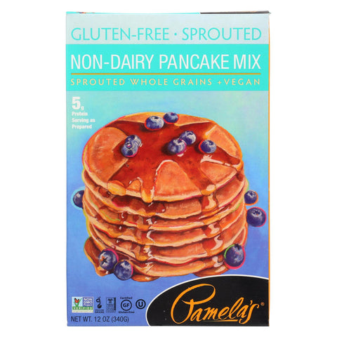 Pamela's Products Sprouted Pancake Mix - Case Of 6 - 12 Oz.