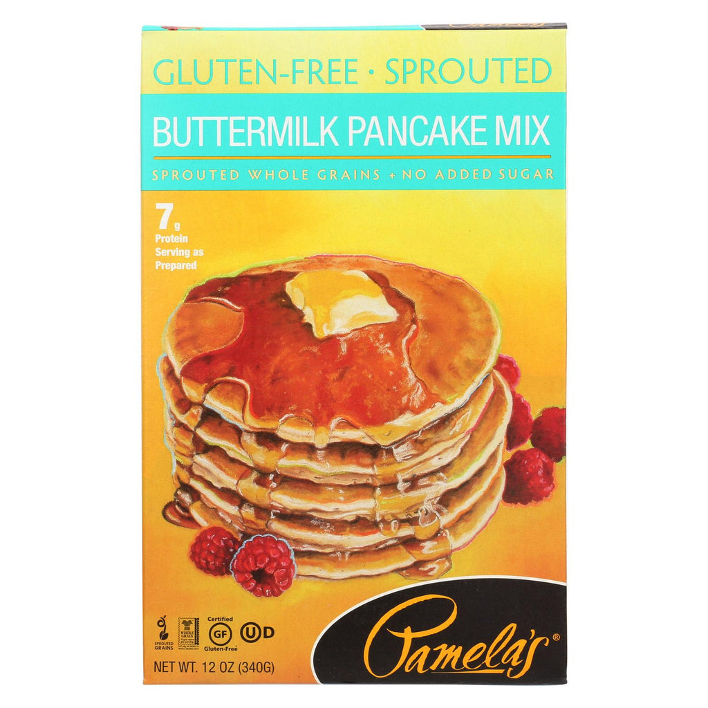 Pamela's Products Grain Pancake Mix - Buttermilk - Case Of 6 - 12 Oz.
