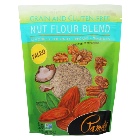 Pamela's Products Nut Flour Blend - Almonds - Case Of 6 - 16 Oz.