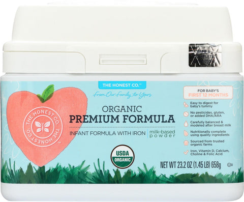 The Honest Company Organic - Premium Infant Formula - Case Of 1 - 23.2 Oz.