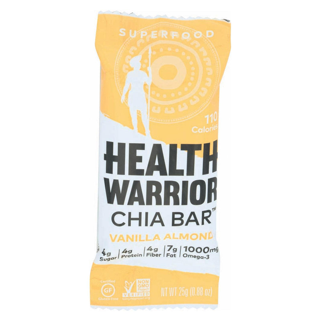 Health Warrior Chia Bar -vanilla Almond - Case Of 15 - .88 Oz