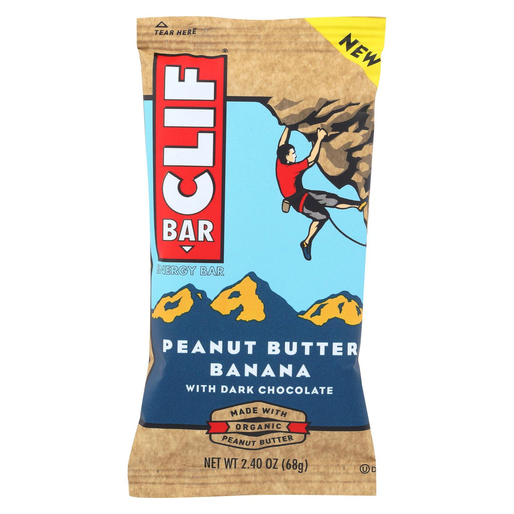 Clif Bar - Peanut Butter Banana With Dark Chocolate - Case Of 12 - 2.4 Oz
