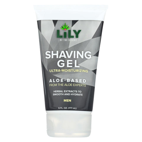 Lily Of The Desert Shaving Gel - Men - Aloe - 6 Fl Oz