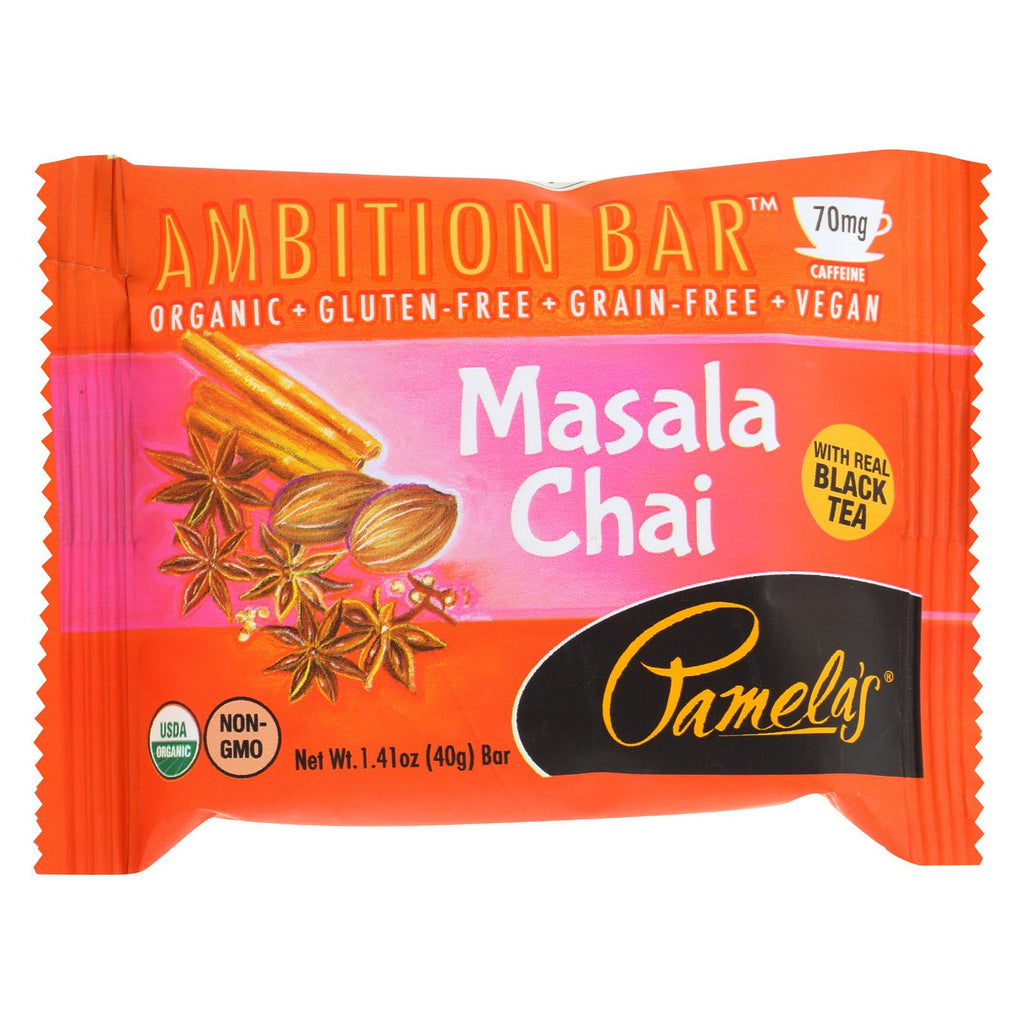 Pamela's Products Ambition Bar - Masala Chai - Case Of 12 - 1.41 Oz