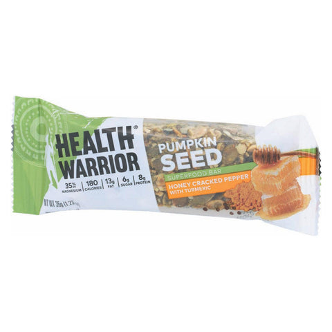 Health Warrior Pumpkin Seed Bar - Cracked Pepper - Case Of 12 - 1.23 Oz