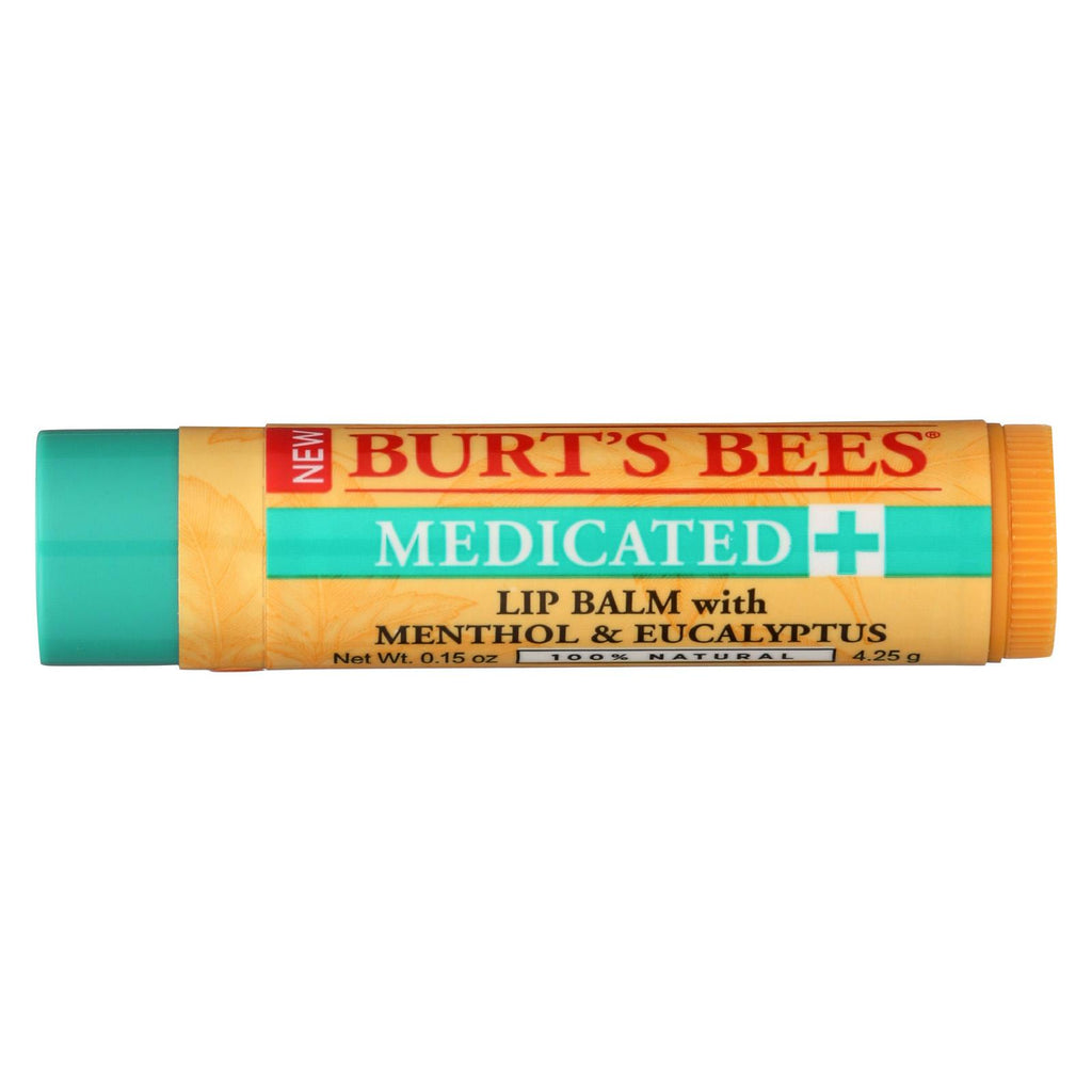 Burts Bees - Lip Balm - Medicated - Case Of 12 - 1 Count