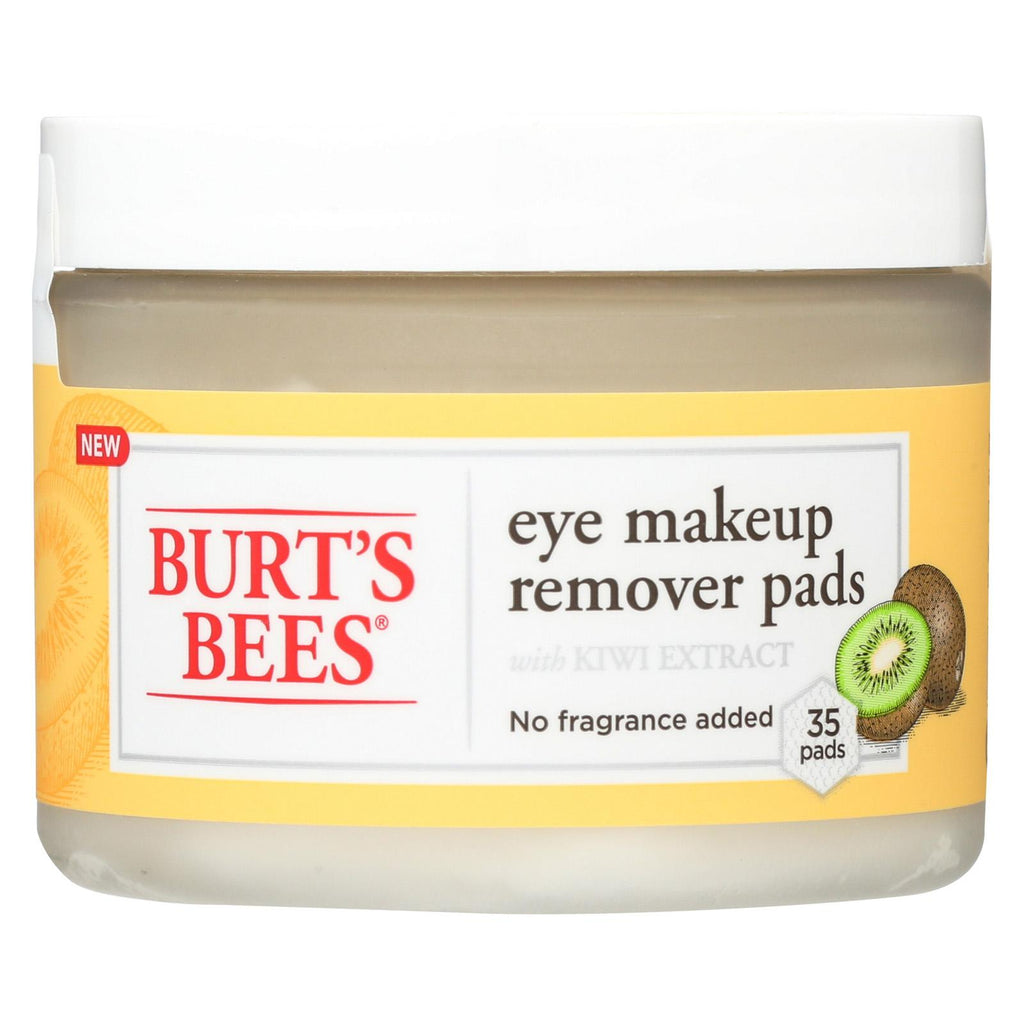 Burts Bees Eye Make Up Remover Pads - 35 Count