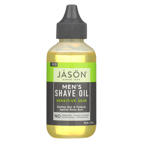 Jason Natural Products Shave Oil - Men's - Sensitive - 2 Fl Oz
