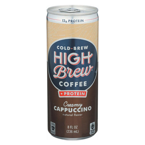 High Brew Coffee Cold Brew Coffee - Creamy Cappuccino - Case Of 12 - 8 Fl Oz