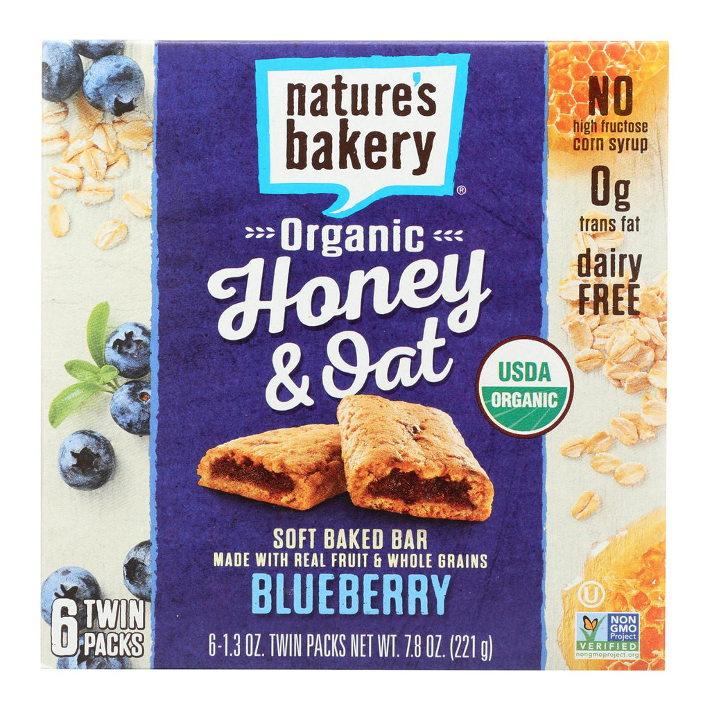 Nature's Bakery Organic Honey And Oat Bar - Blueberry - Case Of 6 - Pack Of 6 - 1.3 Oz.